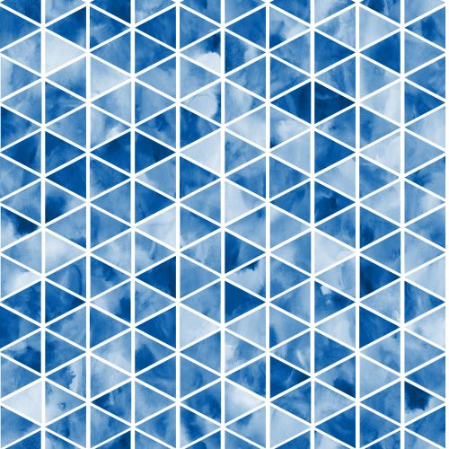 Badelycra Triangles blau